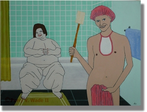 The Bath of Venus original painting by Perry V Wade.