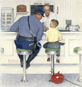 1958 The Runaway by Norman Rockwell.