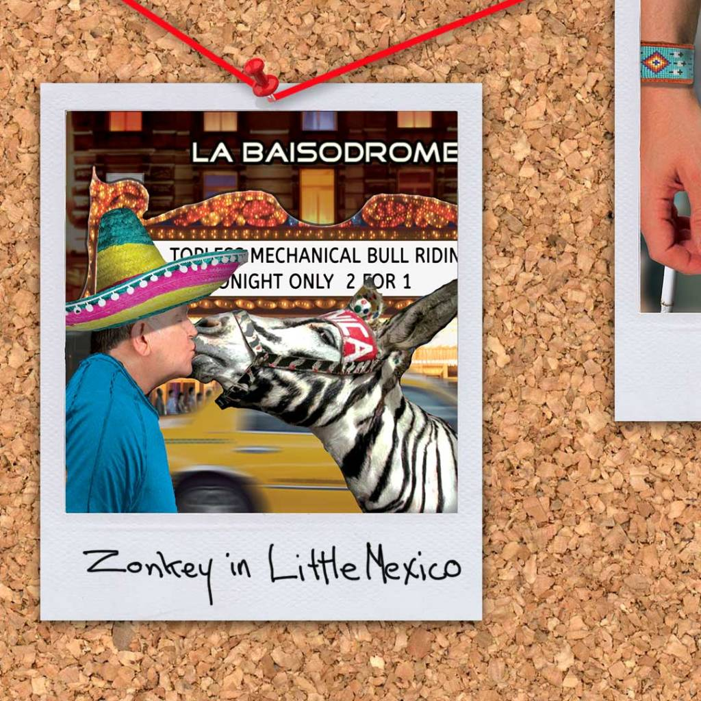 "Zonkey in Little Mexico from the novel ""Morningwood"" by Perry V Wade."
